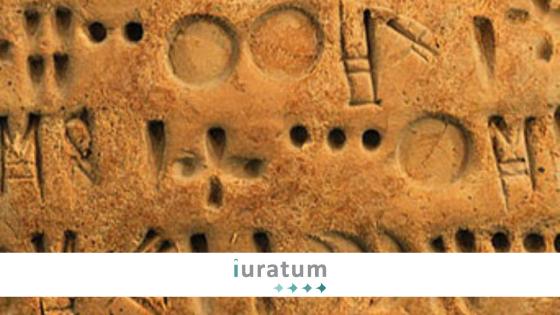 detalle de escrita antigua